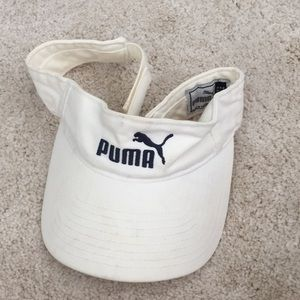 🎃Puma white visor with elastic strap, OS